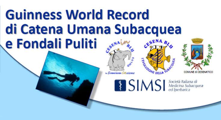 Guinness World Record - Catena Umana Subacquea